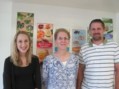 Hannah Olson, Mark Hasse, & Sarah Schultze, BElem Title I, with Mentor Lisa Kittleson.