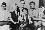 malcolm x, family, and friend
