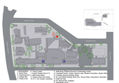 Please see Terrace Map to left. Library is located Level 4 of the Campbell Center