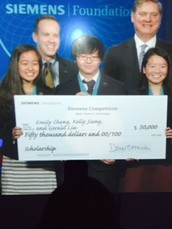 Congratulations to Emily Cheng and Gerald Liu for Placing Second in the 2015 Siemens Research Competition