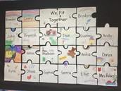 "Ms. Robert's kindgerarten class ""Fitting Together"""