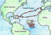 Columbus 's Voyage Route