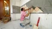 Tiles worker