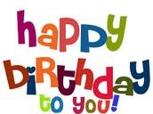 WOOOO HOOO for Birthdays!!!