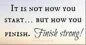 What Does It Mean to Finish Strong?