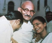 Ghandi giving Blessings