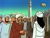 מוסלמים עומדים בתור לקבלת תרומה