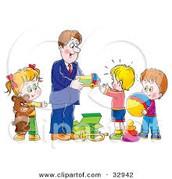 Dar juguetes a los niños