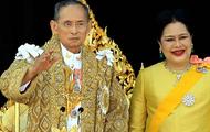 Queen Sirikit and King Bhumibol Adulyadej