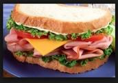 El sándwich de jamón