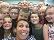 Selfie Fun with Mrs. Pfister's class!
