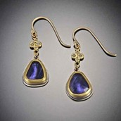 Iolite in earings