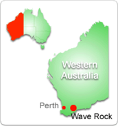 Where is this Wave Rock located?