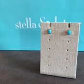 SOLD Delphi Studs Turquoise $10