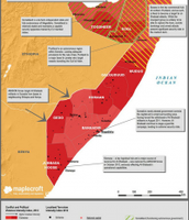 This imagime of somalia shows where most immigrants come from, and where the more violent areas are.