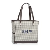 Cindy Tote - Grey Houndstooth