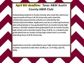 Texas A&M Austin County Club April 8th