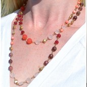 Aileen Necklace - Red