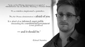 Ed Snowden in an interview in Hong Kong