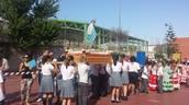 Foto tomada durante la procesión de esta Virgen.