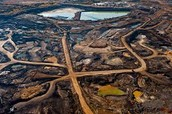 Tar sands in Alberta for oil extraction
