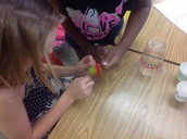 Collaboration--problem solving in Brittany Feick's room
