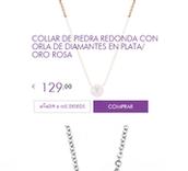 Collar diamantes en plata/oro rosa
