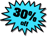 Come to our shop between December 1st 2014 - January 6th 2015, and receive 30% off when you purchase an order of one dozen or more cupcakes!