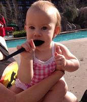 Ingrid at the Pool