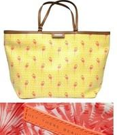 Capri Tote in Flamingo Yellow Reg $98 -50% sale $49