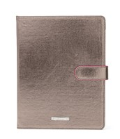 Chelsea iPad Case in Pewter Metallic
